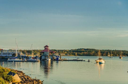 Burlington Harbour at Sunset, Vermont