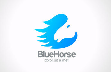 Logo Horse silhouette abstract vector Creative design concept