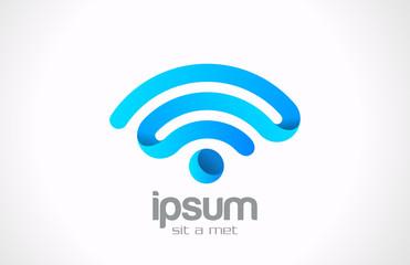 Logo Wireless communication vector Creative design