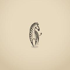 Zebra sign