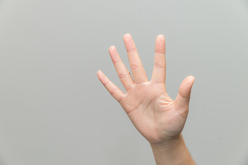 Hand with open palm