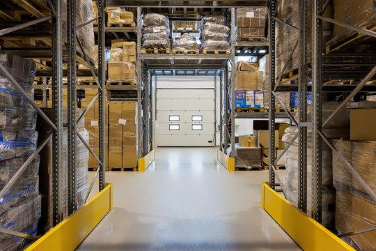 Loading dock in warehouse