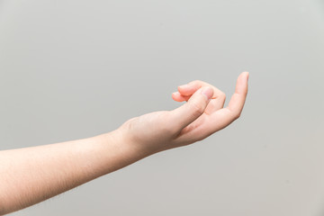 Hand with curl index finger