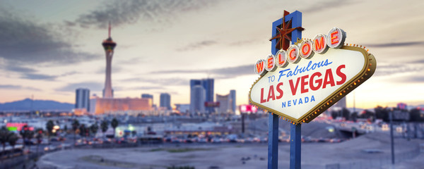 Fotorolgordijn Las Vegas Welcome to Las Vegas Sign