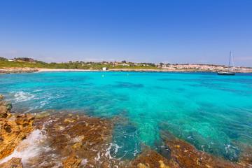 Binibeca beach in Menorca at Binibequer Vell village