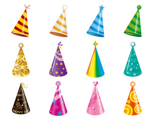 vector of party/christmas hats