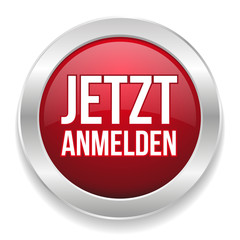 Rot silberner Anmelde-Button