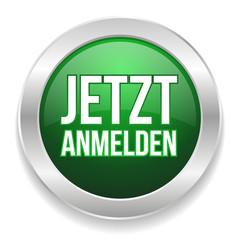 Grün silberner Anmelde-Button