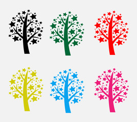Abstract tree in Vector illustration