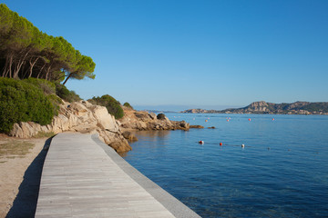 City beach in Palau, Sardinia.