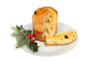 Panettone on a plate