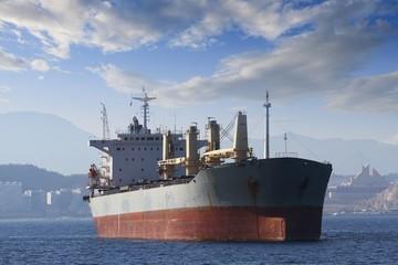 General cargo vessel anchored in Alicante bay