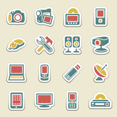 Electronics color icons.
