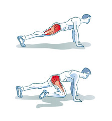 Man Doing Legs Exercise Workout