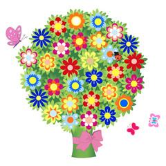 bouquet of flowers - illustration, vector