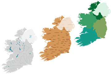 Irland Landkarte
