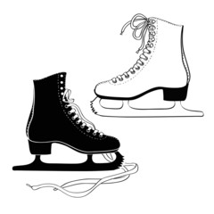 Men's and women 's skates
