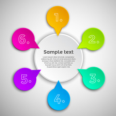 Colorful modern infographics design template