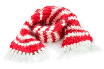 Red woolen scarf
