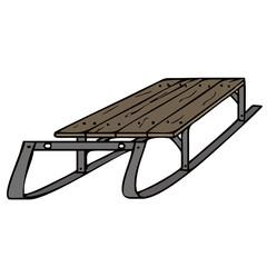 sled vector illustration