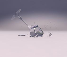 Copa estrellándose contra el suelo