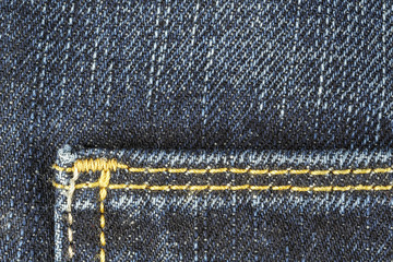 Detail of blue jeans trousers