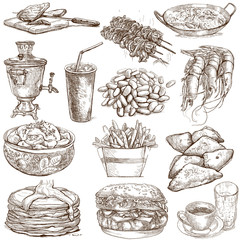 Food and Drinks around the World (no. 3) - full sized drawings