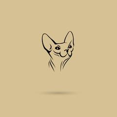 Sphynx cat label