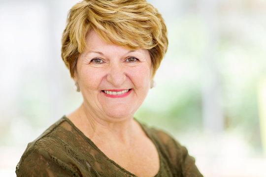 senior woman closeup portrait
