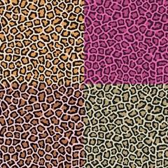 seamless leopard cheetah animal skin pattern