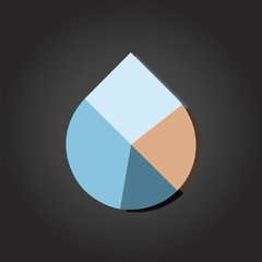 Water Drop Pie Chart