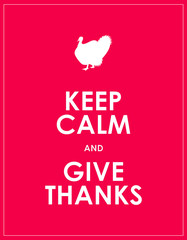 keep calm and give thanks background