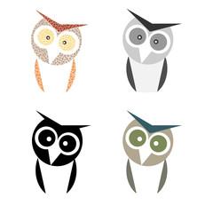 owl minimal design collection set