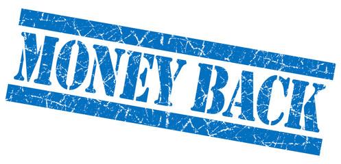 Money back grunge blue stamp