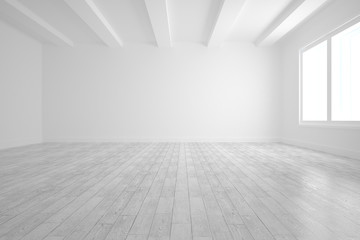 Bright white room