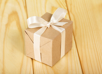 Gift box from a kraft paper