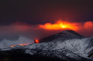Poster Volcano Eruption etna 2013