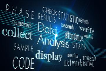 Computing buzzwords on black background