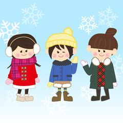 冬のおしゃれ女子