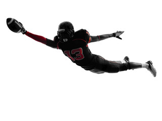 american football player scoring touchdown  silhouette Wall mural