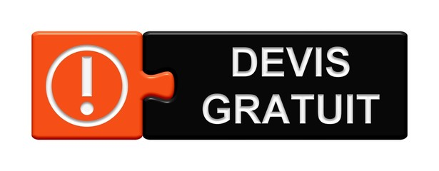 Puzzle-Button orange schwarz: Devis gratuit
