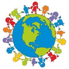 Children in Aktion ~ Kinder ~ Kids - Erde V2
