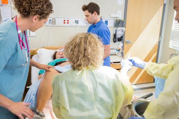 Medical Team Delivering Baby