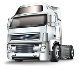 Truck, Zugmaschine grau