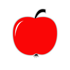 Big red apple. Card.