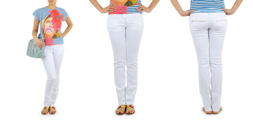 Trousers on the model isolated