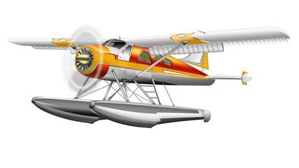 Wasserflugzeug freigestellt
