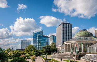 centre d'affaires et jardin botanique de Bruxelles