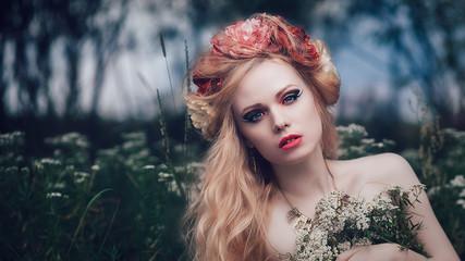 Romantic blond woman