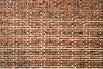 Red and brown brick wall background